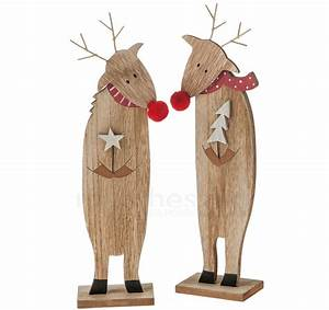 Weihnachtsfiguren Aus Holz : rentiere holz figuren weihnachtsdeko holzfiguren winterdeko 2er set je 23 cm kaufen matches21 ~ Eleganceandgraceweddings.com Haus und Dekorationen