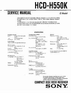 Sony Hcd-h550  Hcd-h550m Service Manual