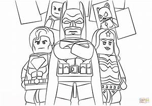 Lego Super Heroes Coloring Page Free Printable Coloring