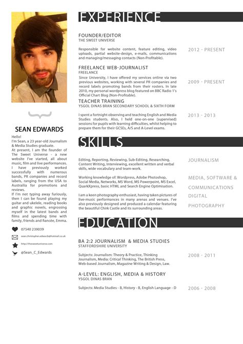 editor s cv resume the sweet universe