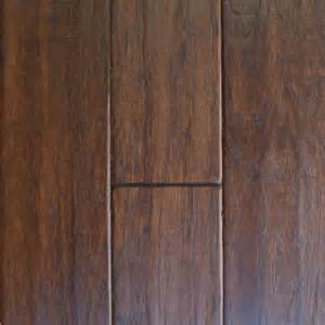 home depot flooring millstead handscraped hickory cocoa 1 2 in thick x 5 in