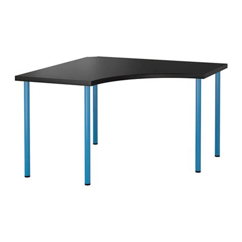 ikea linnmon corner desk dimensions linnmon adils corner table black brown blue ikea