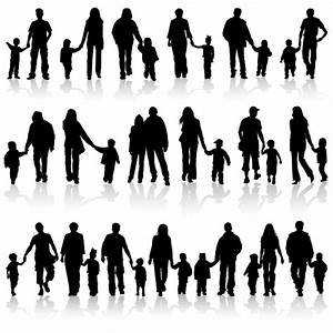 Happiness family vector silhouettes - Vector People free ...