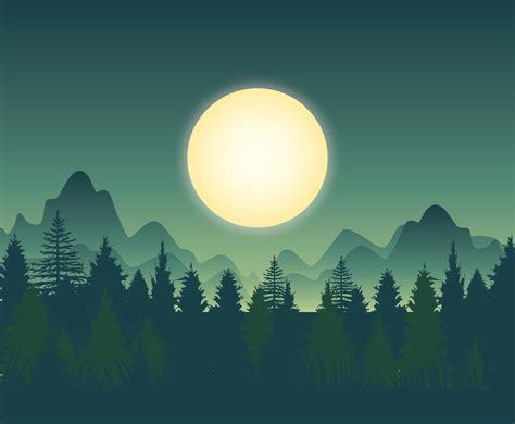 beautiful forest background vector art graphics
