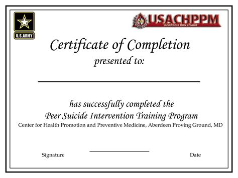 Certificate Of Completion Template Microsoft Word Certificate Of Completion Template