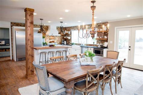 Country Style Living Room by Fixer Upper Kitchens Living And Dining Rooms 21 Favorites
