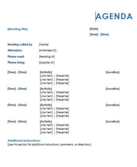 agenda outline templates  sample  format
