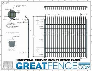 Security Aluminum Metal Fence Panels With Curved Pickets