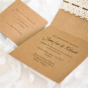 folded wedding invitations affordable diy vintage rustic lace folded wedding invitations ewls044 as low as 2 19