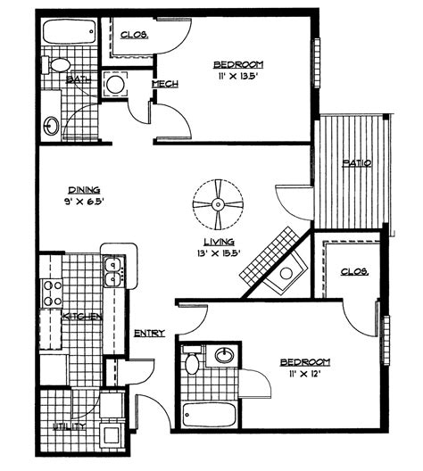 small house floor plans  bedrooms bedroom floor plan