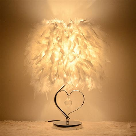 nordic table lamp simple bedside lamp heart shaped frame