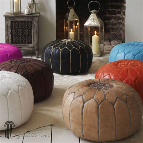 moroccan pouf ottoman moroccan pouf leather ottoman poof footstool burgundy