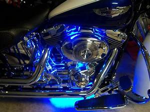 Led engine lighting on my deluxe with pictures harley