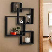 shelves for wall BCP Intersecting Squares Floating Shelf Wall Mounted Home ...