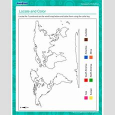 Locate & Color  Geography Worksheet For Kids Jumpstart