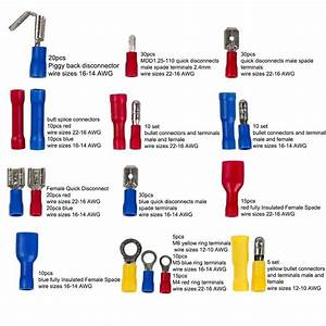 271pcs Wire Terminals Crimp Connectors  19 Types Insulated