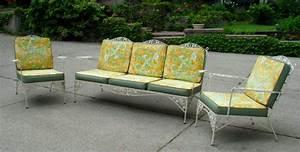 Wrought Iron Patio Sofa Vintage Wrought Iron Mixed Patio