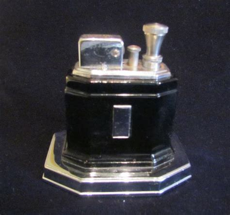 Ronson Touch Tip Lighter 1930s Octette Table Lighter Art