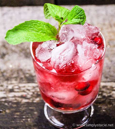 cranberry mint mocktail simply stacie