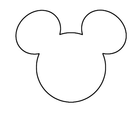 Mickey Mouse Shape Template by Mickey Mouse Coloring Pages Asoboo Info