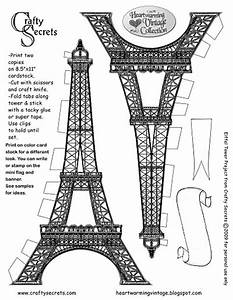 eiffel tower printable pattern decor pinterest With eiffel tower model template