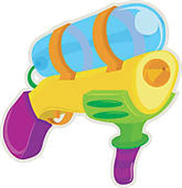 water gun clipart water blaster stock illustrations gograph