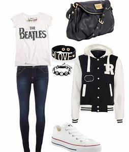 Concert Outfit. Minus the weird letterman jacket | Lookbook | Pinterest | Senior pics Nice and ...