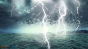 Thunderstorm at Sea with Heavy Rain | Rainstorm Sounds for ...
