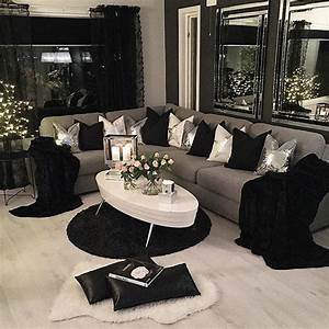 34 black living room decor black and white living room With decoration ideas for living room with black furniture