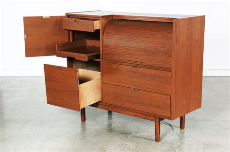 mid century secretary desk mid century walnut secretary desk by hooker vintage