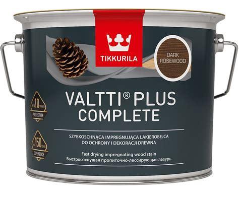 8 gotowych kolorów Tikkurila Valtti Plus Complete
