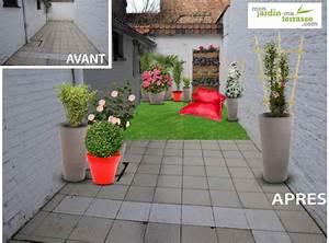 amenager patio en longueur terrasse balcon pinterest With beautiful idee d amenagement de jardin 7 mirosmesnil amenagement dun balcon contemporain
