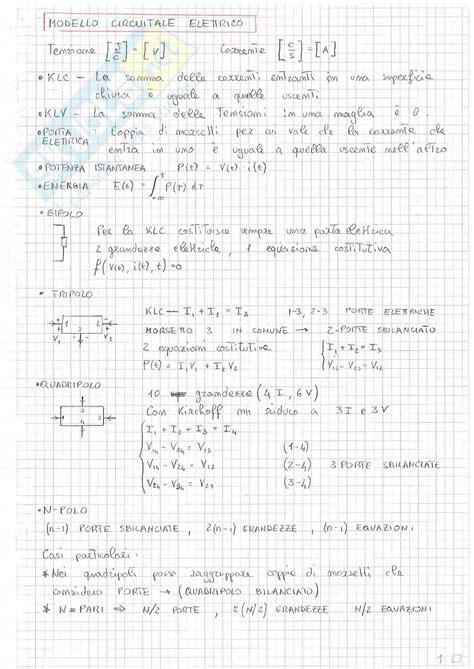 Dispensa Elettrotecnica by Teoria Elettrotecnica Appunti Di Diritto Lavoro
