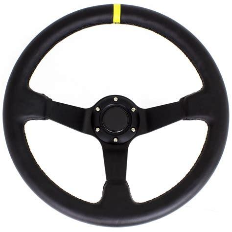 Driftworks Basics - 350mm Leather steering wheel | Driftworks.com