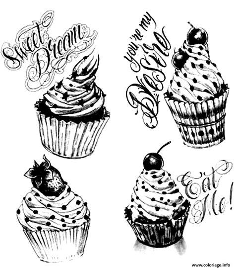 jeux de cuisine gratuit nouveaux coloriage adulte cupcakes vintage dessin