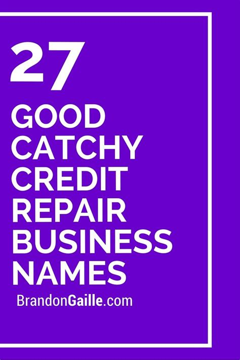 good catchy credit repair business names business