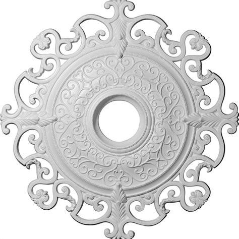 Two Ceiling Medallions Home Depot by Ekena Millwork 38 3 8 In Orleans Ceiling Medallion Cm38ol