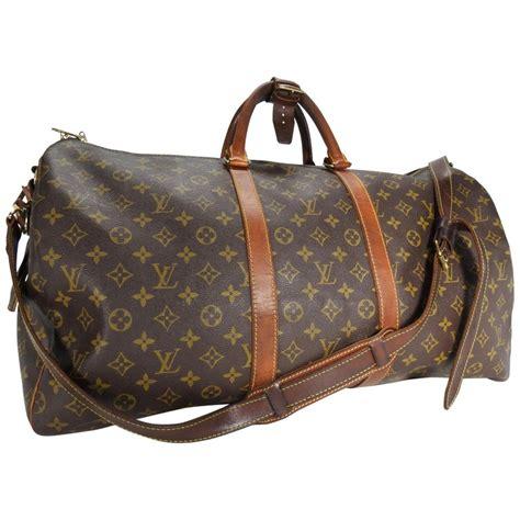 louis vuitton classic keepall leather monogram travel bag  sale  stdibs