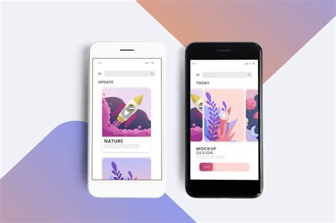 The layout features nice decorative elements such it's free to download. Premium mobile phone screen mockup template PSD file ...