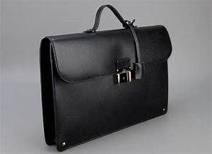 Valentino Black Leather Briefase - HommeStyler