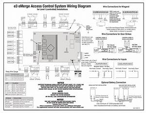 E3 Emerge Access Control System Wiring Diagram