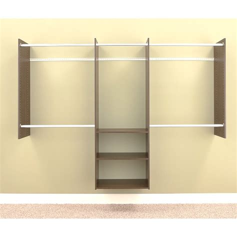 easy track deluxe  wide closet system reviews wayfair