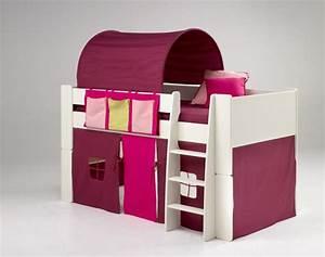 Tunnel Für Hochbett : kinderbett hochbett bett tunnel vorhang lila pink mdf wei lackiert kinderzimmer kaufen bei ~ Orissabook.com Haus und Dekorationen