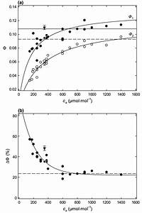 Quantum Yield Of Photosynthesis As A Function Of External