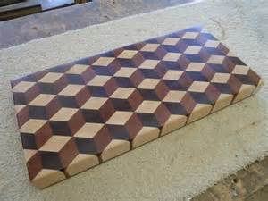 tumbling block end grain cutting board by bluemax lumberjocks com woodworking community