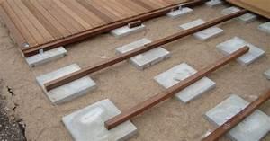 Pose Terrasse Bois Sur Gravier : comment r aliser votre terrasse sur un sol nu ~ Premium-room.com Idées de Décoration