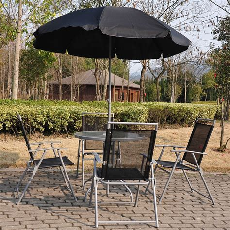 black bistro patio set aosom ca