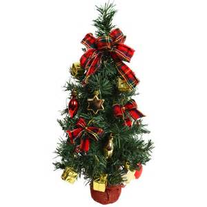 fantastic pre decorated 45cm 18 quot artificial desk top table centre piece christmas tree