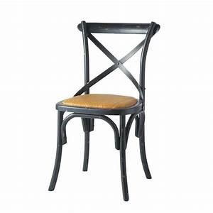 Chaise Rotin Noir : chaise en rotin naturel et bois noir tradition maisons du monde ~ Teatrodelosmanantiales.com Idées de Décoration