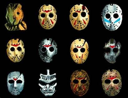 Masks Jason Voorhees Movies Horror Many Jasons